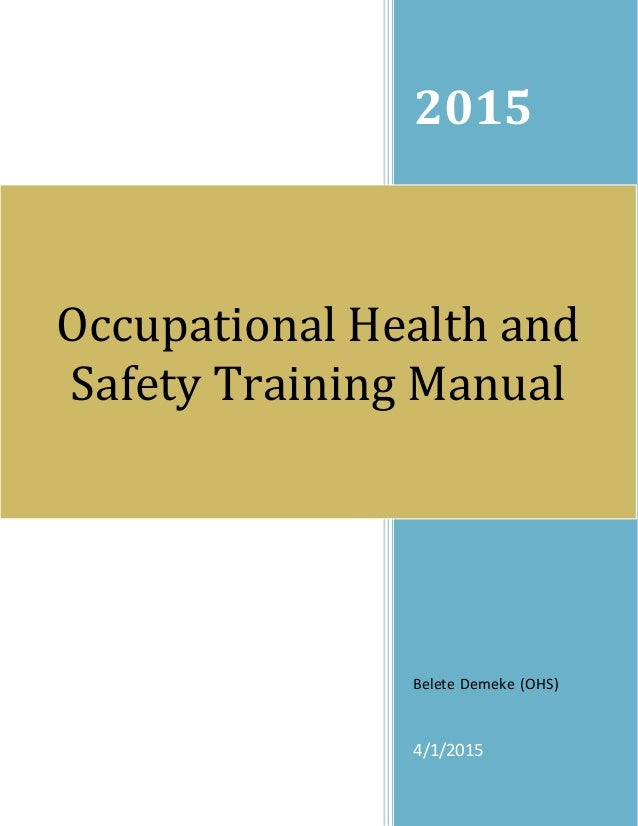 occupational health and safety policy document