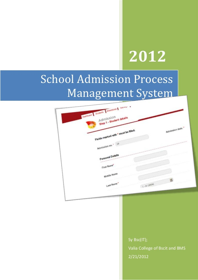 student management system documentation