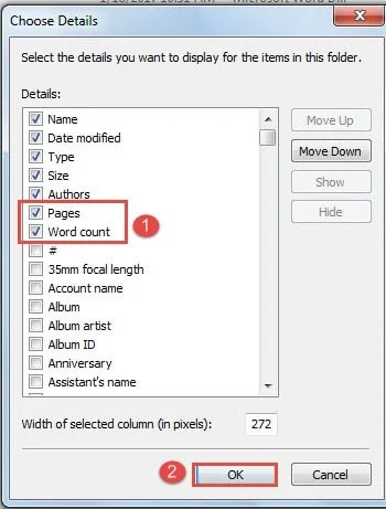 how to number pages in word document