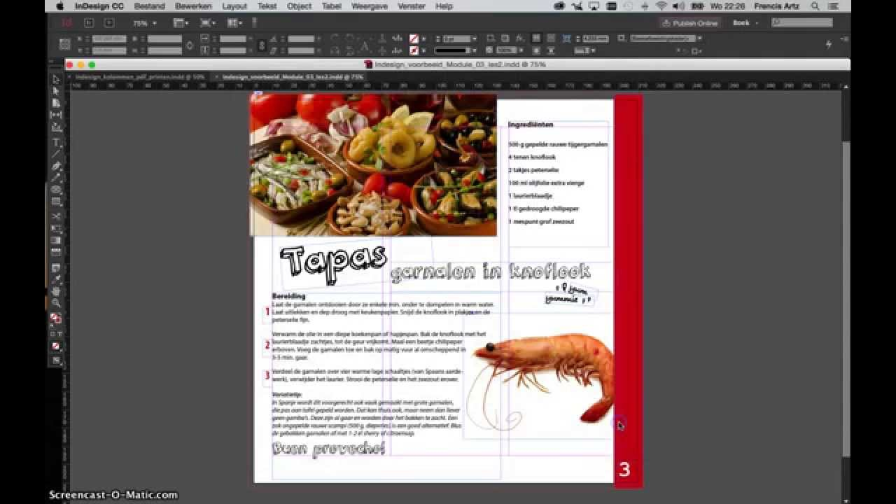 document en mm rvb indesign
