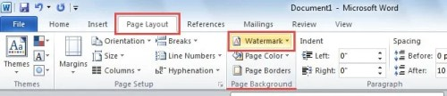 apply watermark to entire word document
