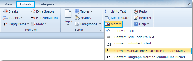 shortcut to highlight whole word document