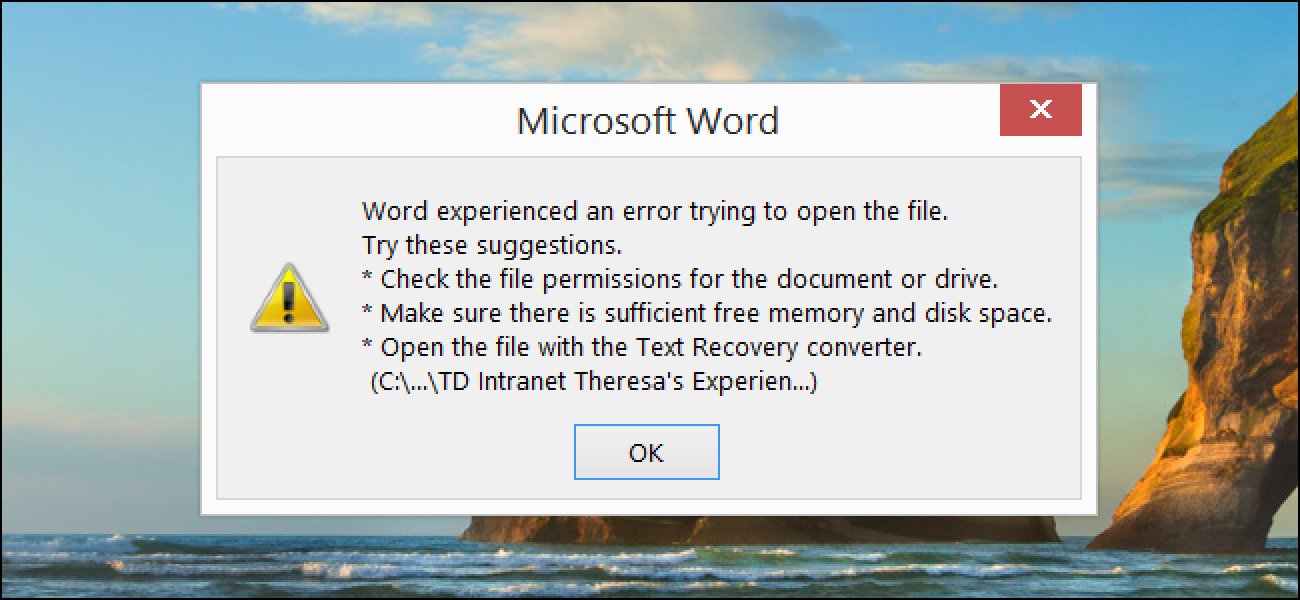 can i recover a corrupted word document