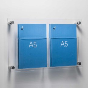 wall mounted flip document holder