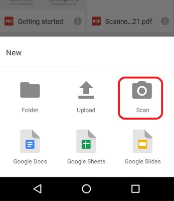 how to scan a document on android