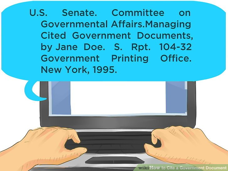 citing a government document chicago