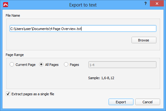 save word document into separate pdf pages