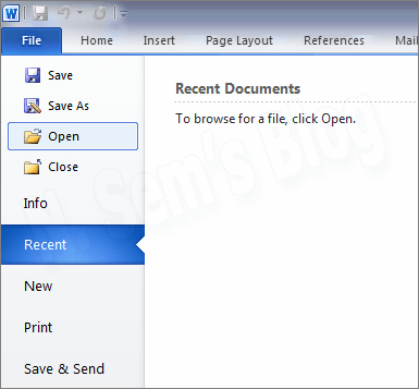 4 way to open a word document