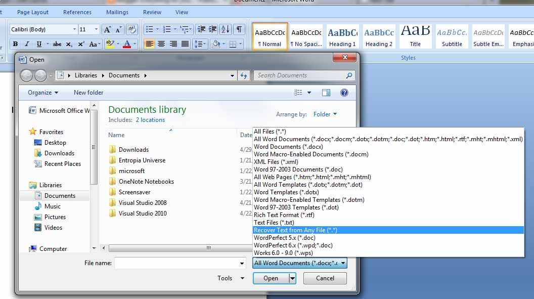 convert text file to word document