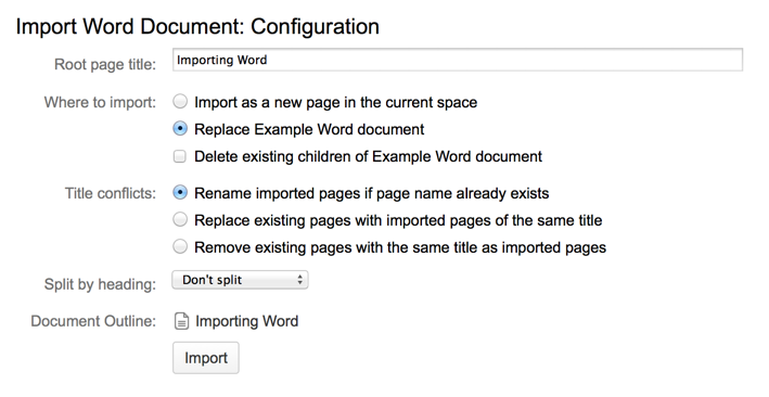 confluence import word document with images