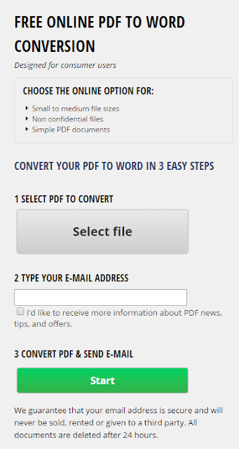 free convert pdf to word document online