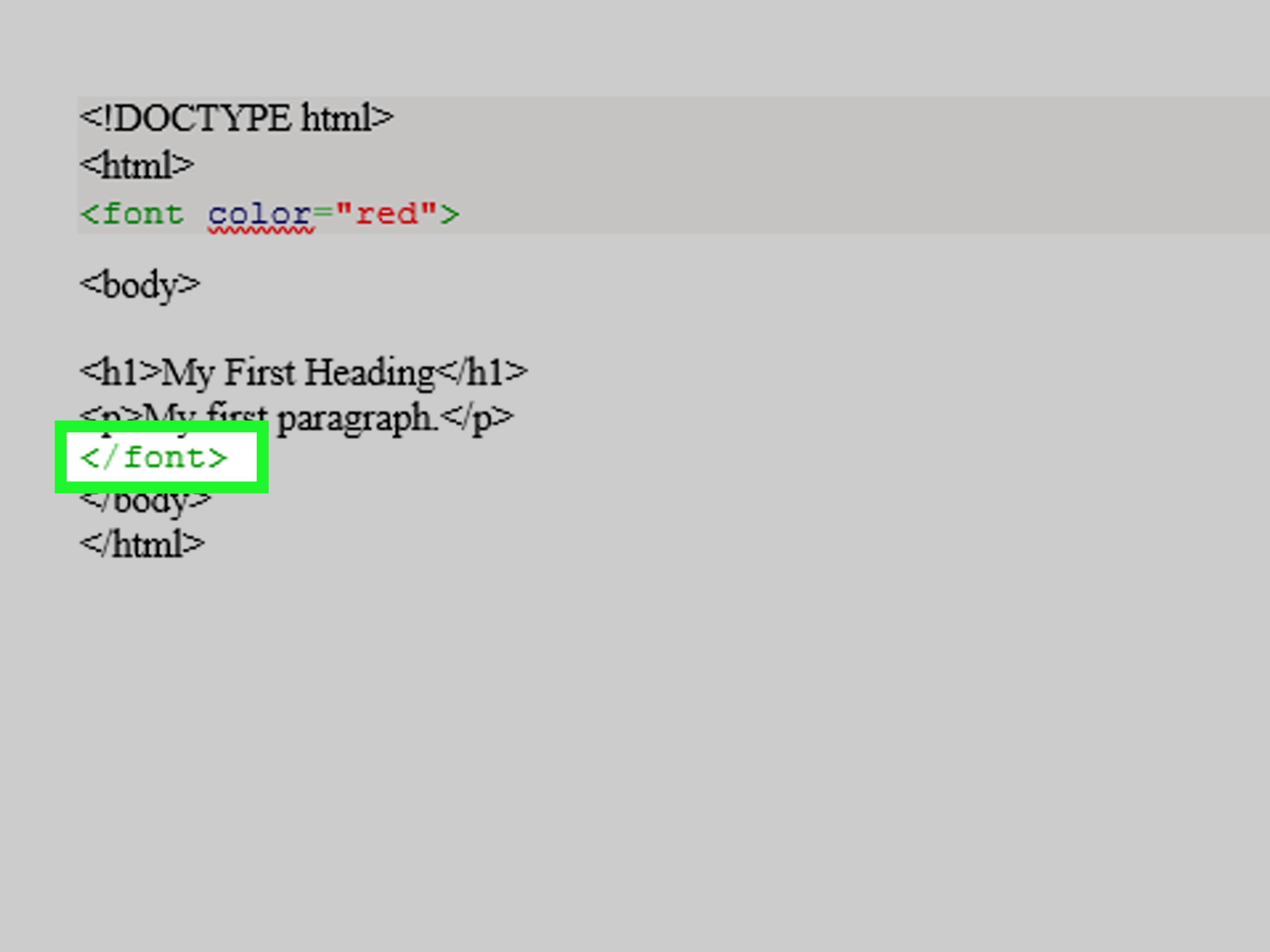 in html document the tags