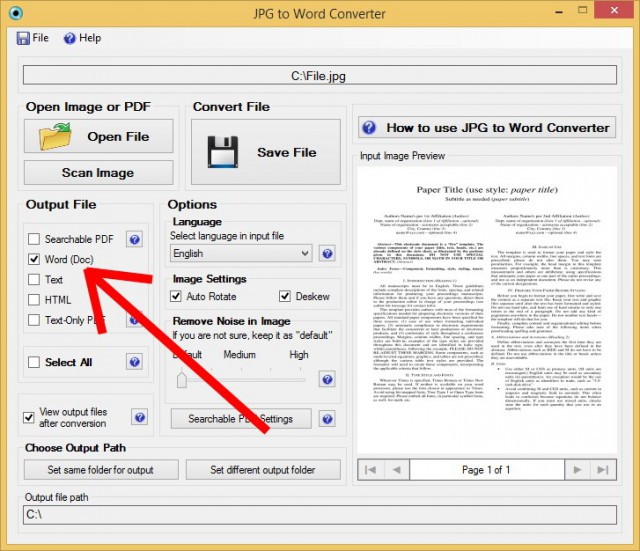 scan and save as word document