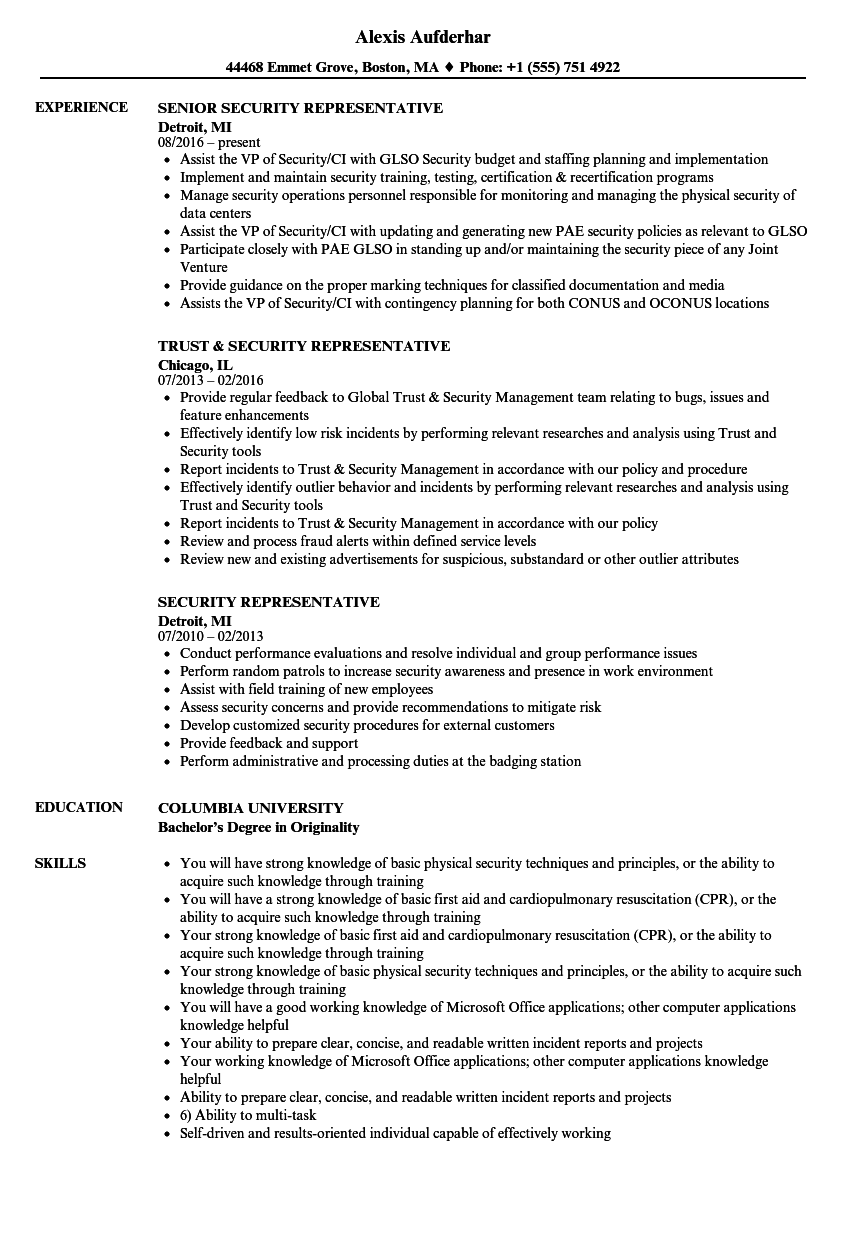 resume for ar spec documentation