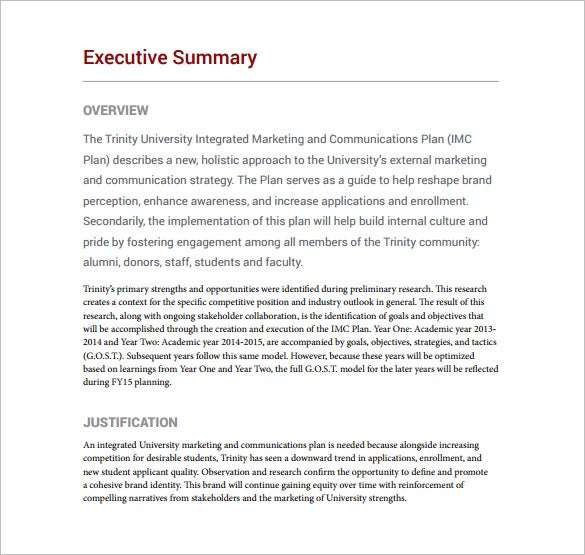 writing a marketing strategy document