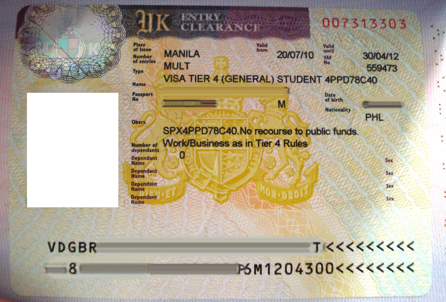 passport what does document number mean