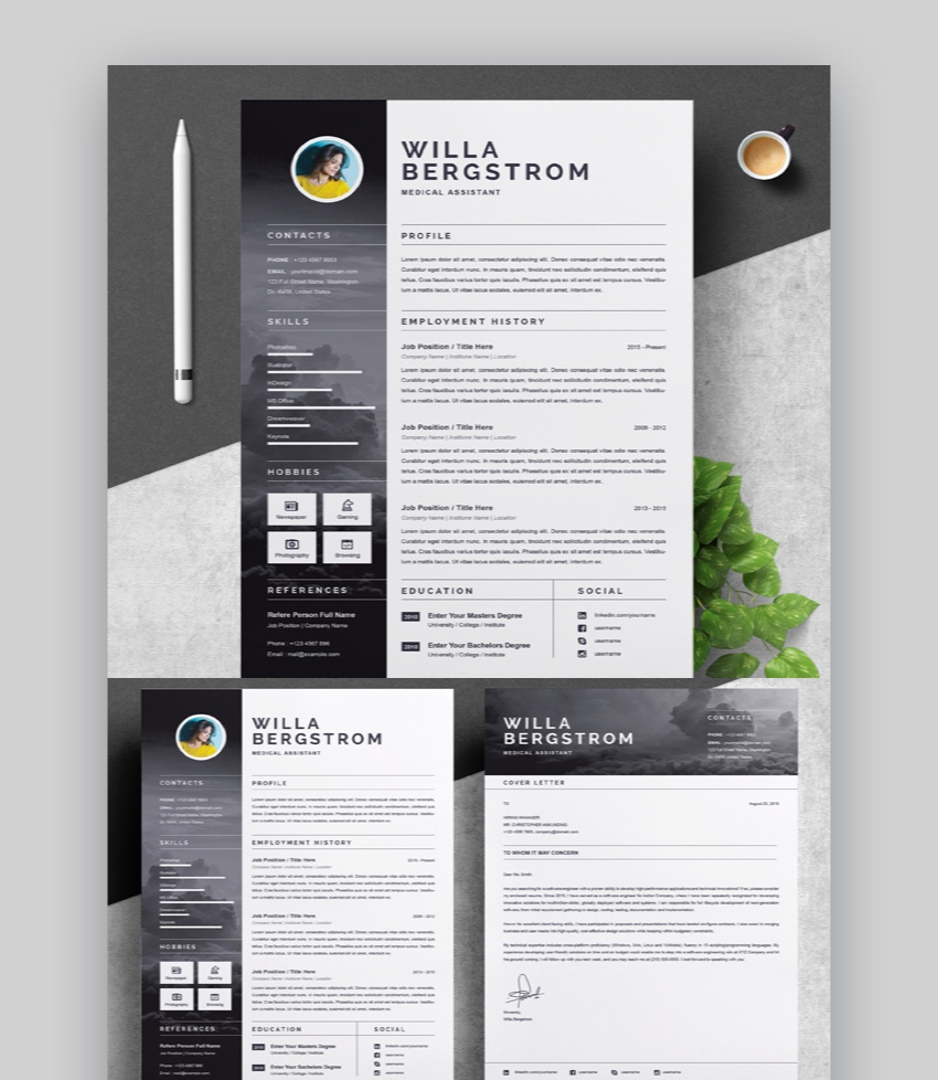 word document cv template free