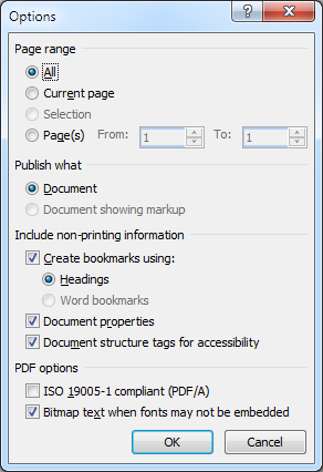 word document with hyperlinks to pdf