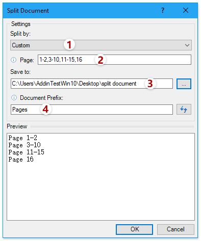 how to divide a word document into sections