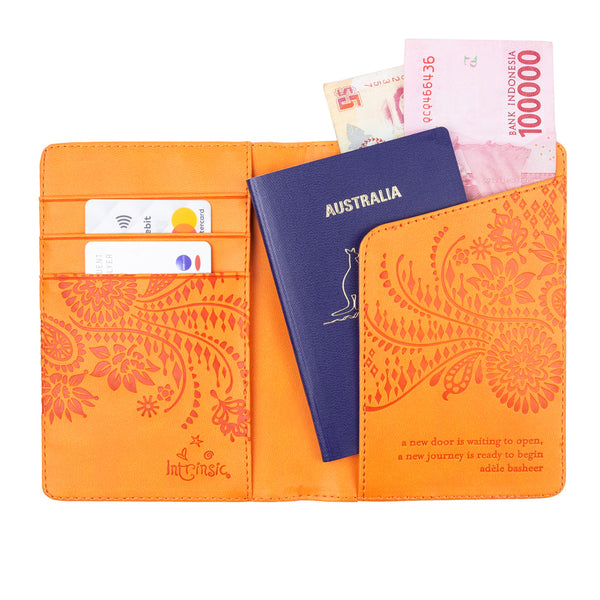 passport and travel document case wallet
