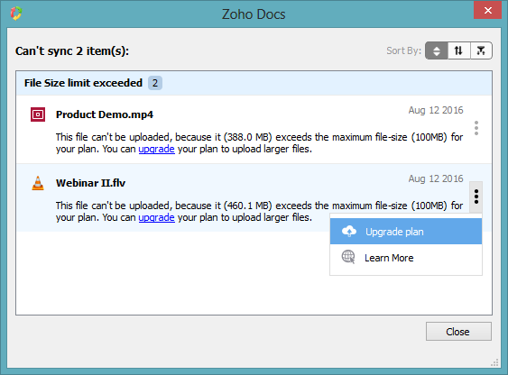 max file size of document for cic