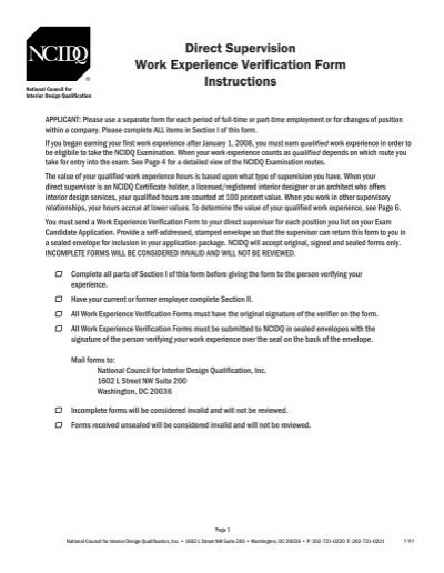imm document for additional work experiwnce