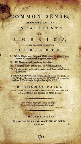 historical document 12 thomas paine common sense 1776