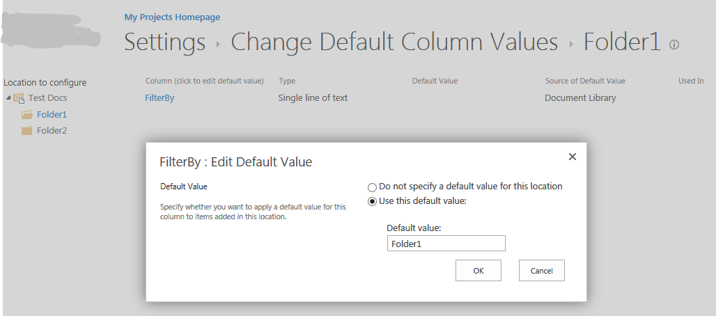 sharepoint document library view filter by folder