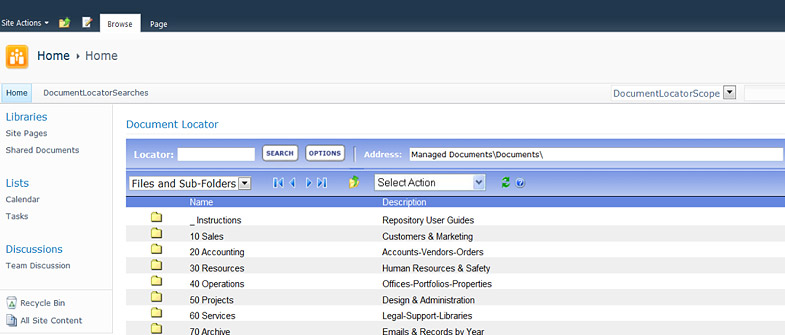 sharepoint like document management and collaboration