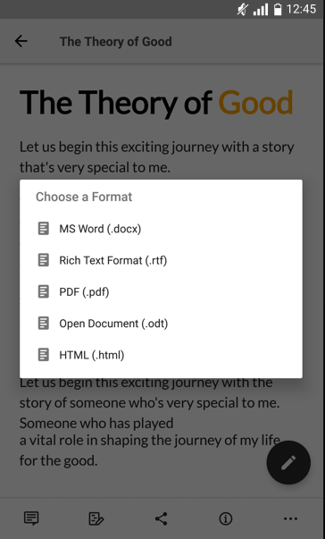 send txt document to android from computer