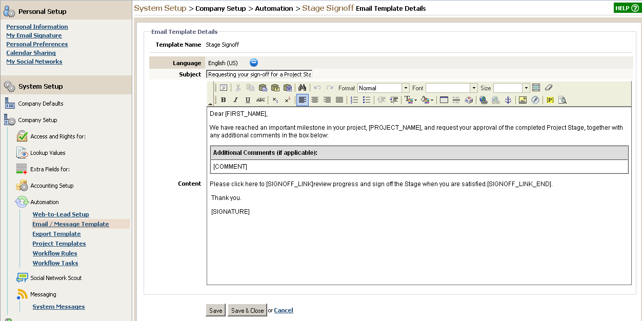 creating official document from template