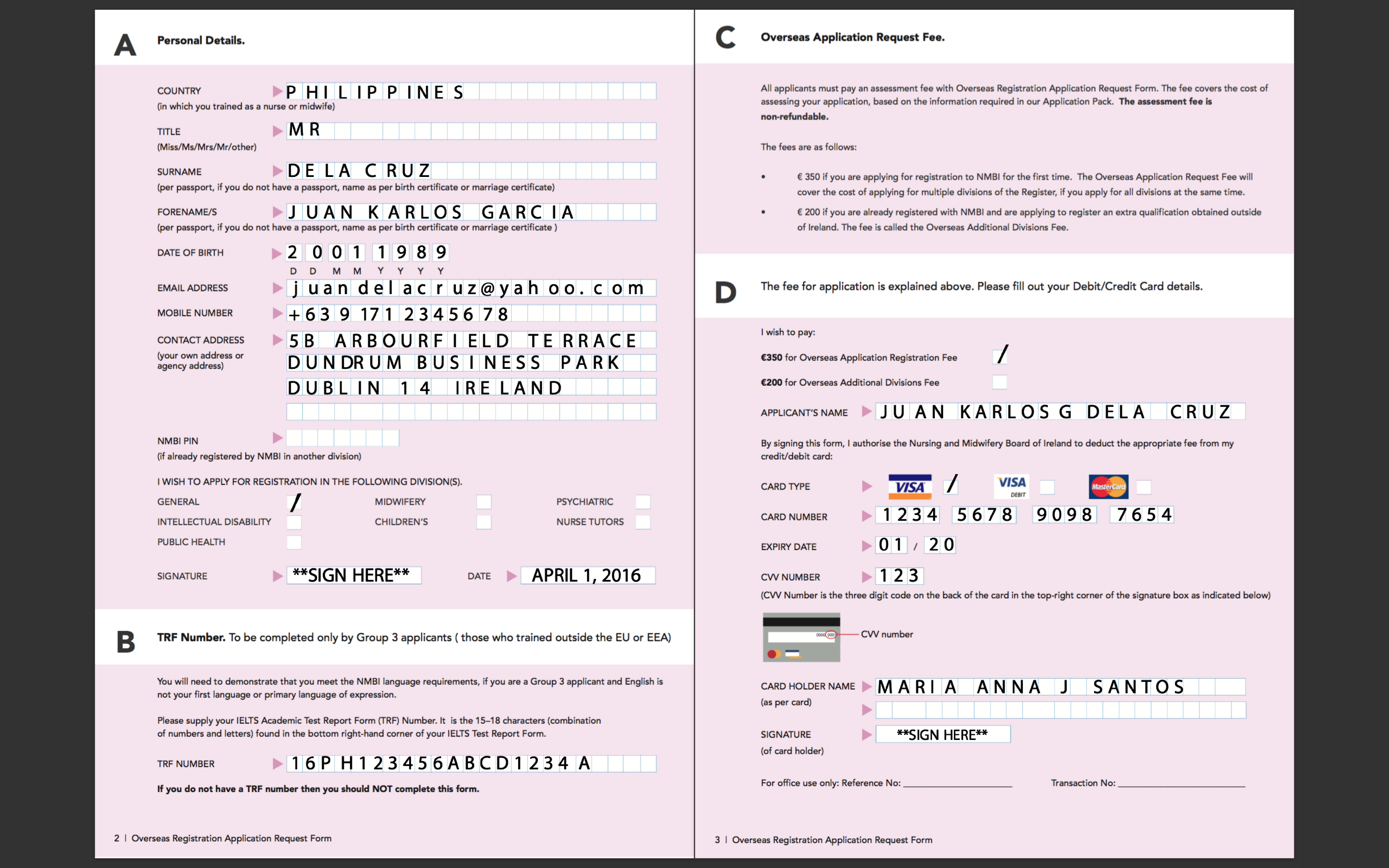 can a passport reference send a scanned document