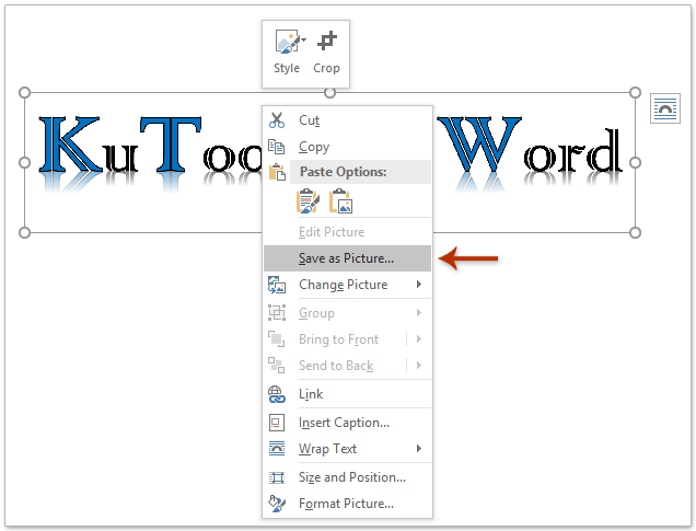 save a word document that is not responding