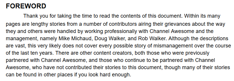 channel awesome document google docs