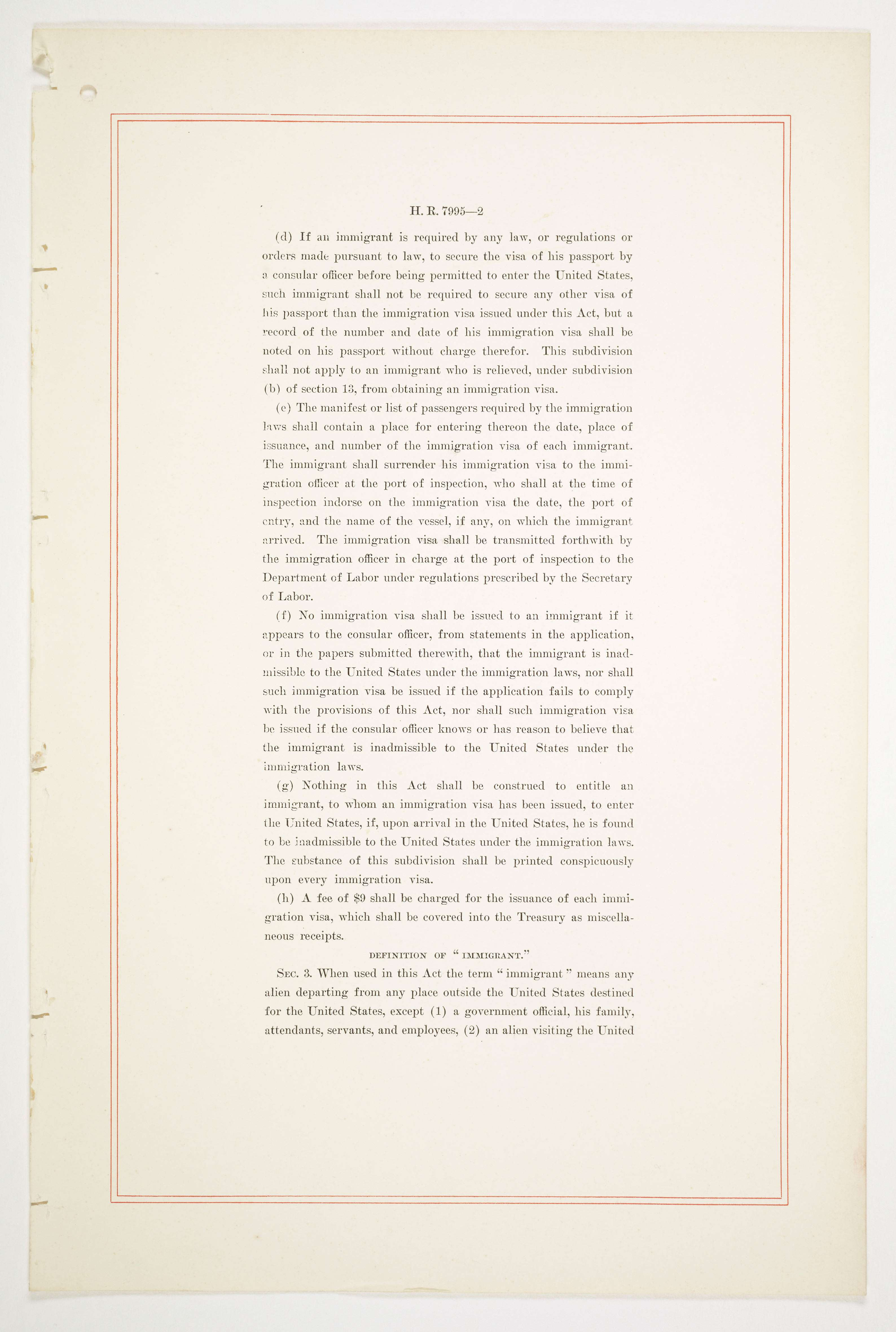 immigration act of 1924 primary document