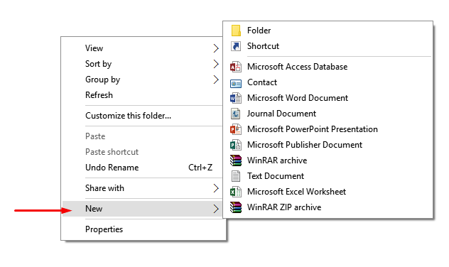 click to create a new document