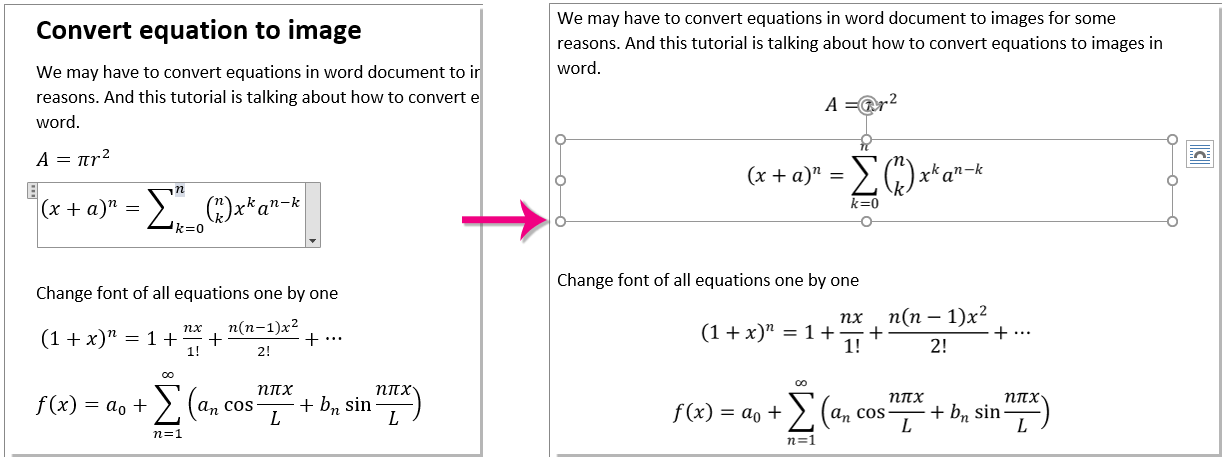 convert word document latex with equations