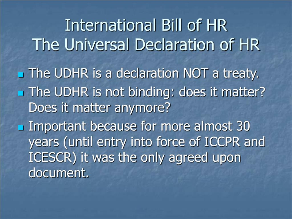 is the udhr a legally binding document