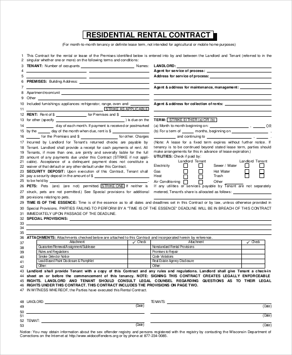document retention policy for tenancy agreements