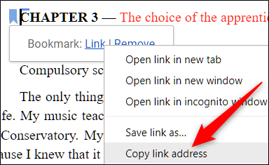 google docs link to bookmark in another document