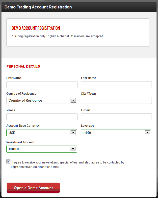 documentation required to open fx account in canada