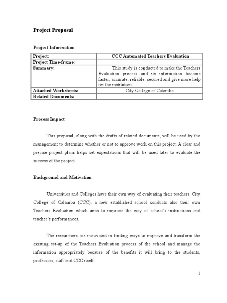 information technology project proposal document