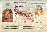 biographical page of passport s travel document s