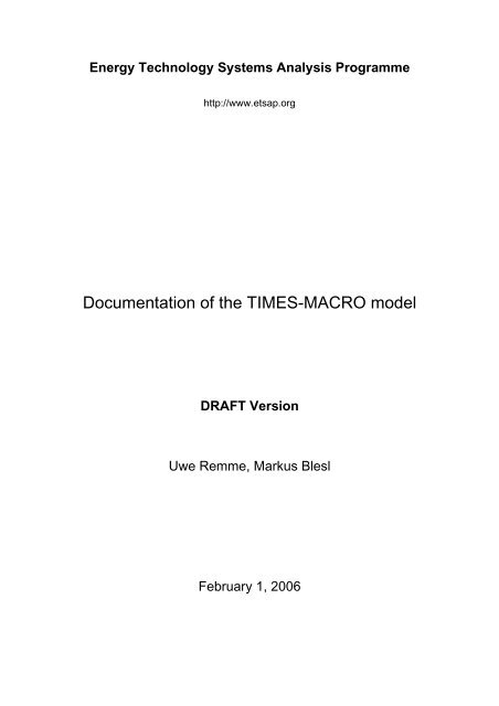 documentation for the times model