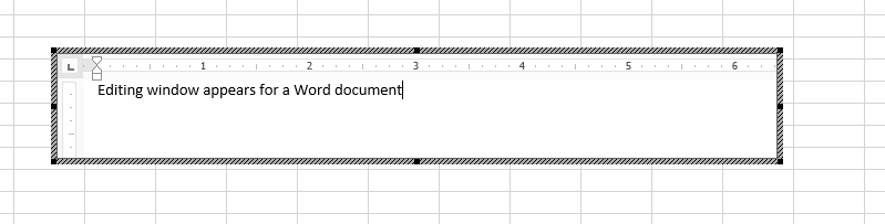 can you insert an excel document into a word document