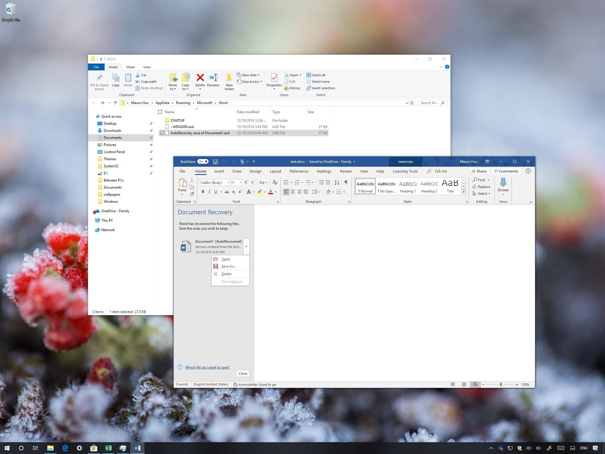 how to recover unsaved document libreoffice