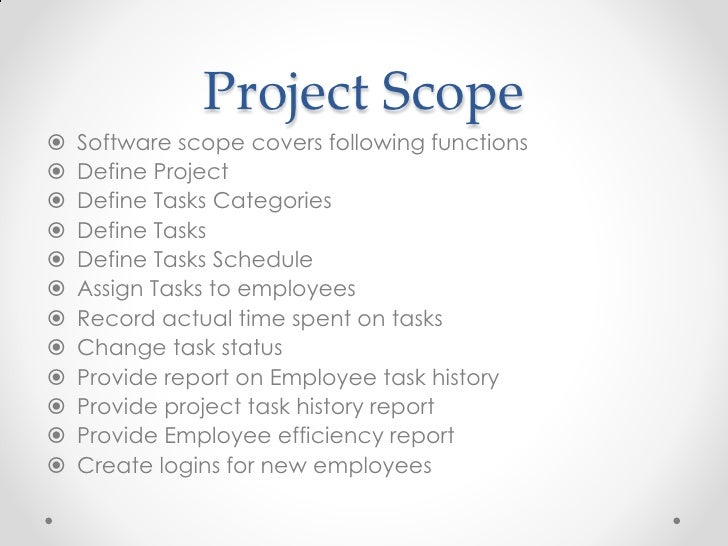 project scope for document management system