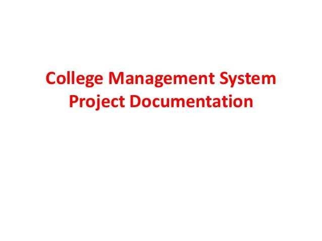 college faculty management system project documentation