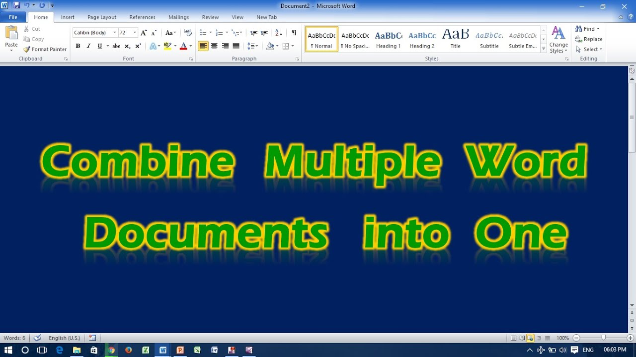 combining excel and word into one document