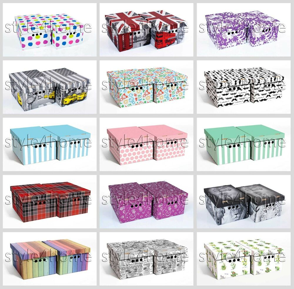 decorative document storage boxes with lids